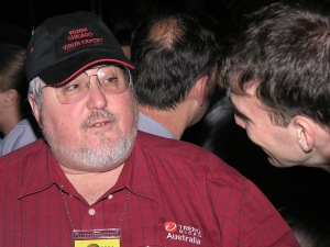 I was at VB in Canada in 2008 representing Trend Micro. Here I am seen speaking with Vincent Weafer